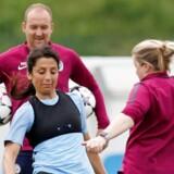 Nadia Nadim under træning for Manchester City. Den danske angriber vil nu væk fra klubben, som hun ifølge eget udsagn aldrig har følt sig hjemme i.