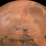 NASA-billede af den røde planet.