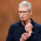 Arkivfoto af Apples adm. direktør Tim Cook. AFP PHOTO / Josh Edelson