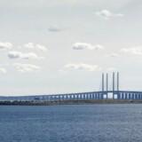 Øresundsbroen set fra Kastrup. Arkivfoto.