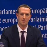 Efter et omfattende datalæk hos Facebook måtte Mark Zuckerberg både stå skoleret i Kongressen i USA og i EU (billedet). -/arkiv/Ritzau Scanpix