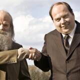 Pilou Asbæk og Nicolas Bro spiller hhv. Simon Spies og Mogens Glistrup. Foto fra filmen.