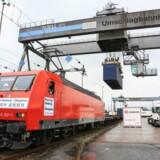 DB Schenker åbner ny togforbindelser mellem Danmark og Kina. Billedet er fra det første tog fra Hamburg til Zhengzhou d. 1. september 2014.