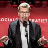 Københavns overborgmester Frank Jensen taler til socialdemokratiets valgfest på valgdagen under Kommunalvalget 2017 i Amager Bio i København, tirsdag den 21. november 2017.. (Foto: Mads Claus Rasmussen/Scanpix 2017)
