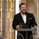 Ricky Gervais under Golden Globe.