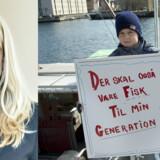 Billede (th.) fra demonstration mod sandsugning i Øresund i 2014. Foto: Keld Navntoft og Jens Nørgaard Larsen