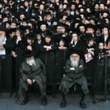 Ortodokse jøder protesterer mod værnepligt i Jerusalem.