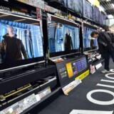 Sharp, som er hjemmehørende i Japan, er især kendt for sine store TV-skærme som Aquos-serien. Arkivfoto: Yoshikazu Tsuno, AFP/Scanpix
