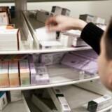 Lægemiddelstyrelsen har fundet ud af, at en række butikker ikke har styr på salget af håndkøbsmedicin. Overtrædelserne drejer sig blandt andet om lægemidler, der har passeret sidste salgsdag. Foto: Scanpix/Jonas Vandall Ørtvig