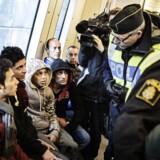 Arkivfoto: Alene i 2015 søgte 163.000 personer om asyl i Sverige. Heraf ventes 45 procent at få afslag.