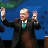 Den tyrkiske præsident Recep Tayyip Erdogan.