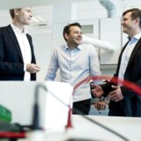 Orphazyme var det første biotekselskab i årevis der gik på børsen. Her ses Anders Vadsholt (tv) Chief Financial Officer, Thomas Kirkegaard Jensen (i midten), PhD Chief Scientific Officer og Anders Hinsby, (th) PhD Chief Executive Officer
