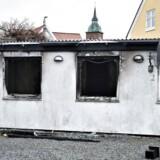 En mordbrand raserede et hus på Heimdalsgade 1 i Aalborg. 2 personer, en mand og en kvinde, døde ved den eksplosionsagtige brand. Her ses huset onsdag eftermiddag d. 11. januar.