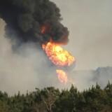 Billede fra eksplosionen i Alabama.