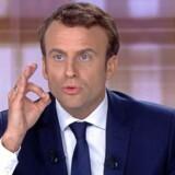 Emmanuel Macron står foreløbig i meningsmålingerne til at vinde over Marine Le Pen. Arkivfoto: Scanpix