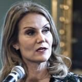 Helle Thorning-Schmidt i Folketinget i forbindelse med præsentationen af det portræt, der er malet af historiens første kvindelige statsminister.