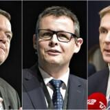 Regeringen er nu klar til at placere en ny vestdansk politiskole et andet sted end i Herning - beslutningen er op til Kristian Thulesen Dahl (th.) - ikke Lars Løkke (tv.), mener Hernings borgmester Lars Krarup.