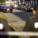 Politiet foretog i går en større ransagning af Hells Angels klubhuset på Siljangade på Amager. Dette billede er fra en tidligere aktion i 2012.