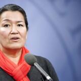 Den grønlandske politiker Aleqa Hammond bliver ikke genvalgt til Landstinget. (Foto: Keld Navntoft/Scanpix 2014)