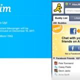 Om to måneder er det slut: AOL Instant Messenger trækker stikket efter 20 år. Fotos: AOL/AIM