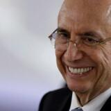 Brasiliens finansminister Henrique Meirelles melder om vækst i første kvartal. REUTERS/Ueslei Marcelino