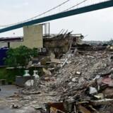 Her ses resterne af den natklub, som ved nytår blev udsat for et blodigt angreb.