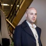 Anders Kuhnau fra danske regioner forlader Forligsinstitutionen på Sankt Annæ Plads i København, onsdag den 18. april 2018. Forhandlingerne startede klokken 10:00 tirsdag formiddag og kan trække ud længe endnu.