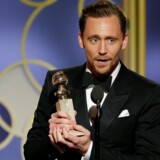 """Tom Hiddleston vandt en Golden Globe for sin hovedrolle i """"Natportieren"""", der er instrueret af Susanne Bier. Reuters/Handout"""