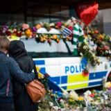 Mindehøjtidelighed i Stockholm efter terrorangrebet i Stockholm fredag, som kostede fire mennesker livet.