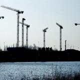 Kraner knejser over Refshaleøen på Amager. København oplever, hvad man på rådhuset kalder et byggeboom.