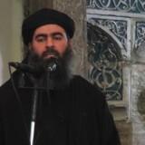 ARKIVFOTO fra 2014, hvor IS-leder Abu Bakr al-Baghdadi udråbte sit kalifat.