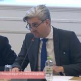 Justitsminister Søren Pind (V) var torsdag eftermiddag på ny i samråd om den såkaldte sessionslogning i Folketingets retsudvalg. Foto: Folketingets net-TV