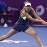 Caroline Wozniacki rykker ned på verdensranglistens andenplads mandag. Scanpix/Karim Jaafar