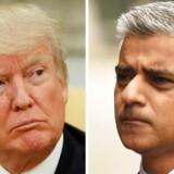 Præsident Donald Trump angriber Londons borgmester Sadiq Khan efter terrorangrebet i London - men synes helt at have misforstået, hvad borgmesteren egentlig har sagt. REUTERS/Jonathan Ernst (L) and REUTERS/Clodagh Kilcoyne (R)/File Photos