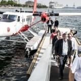 Nordic Seaplanes eneste vandfly efter en landing i Københavns Havn. Ambitonen er at indsætte endnu et fly i rutefart mellem Danmarks to største byer.