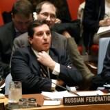 Onsdag mødtes FN's Sikkerhedsråd i New York. Fredag mødes Sikkerhedsrådet igen, denne gang for at drøfte amerikansk raketangreb. REUTERS/Shannon Stapleton