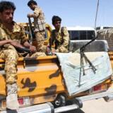 Arkivfoto. Via mærker på missil kan man fastslå, at missil affyret af oprørere i Yemen stammer fra Iran, siger general.