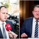 Dansk Folkepartis Martin Henriksen efterlyser en tydeligere retning fra Lars Løkke Rasmussen i nytårstalen. Fotos: Asger Ladefoged og Bax Lindhardt