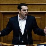 Alexis Tsipras, den græske premierminister, siger i sin nytårstale, at Grækenland i det nye år bliver i stand til økonomisk at stå på egne ben. (Foto: ANGELOS TZORTZINIS/Scanpix 2017)