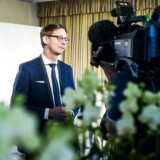 Erhvervsminister Brian Mikkelsen, skatteminister Karsten Lauritzen og transport-, bygnings og boligminister Ole Birk Olesen præsenterede 9 oktober regeringens Strategi for vækst gennem deleøkonomi. Her er det skatteminister Karsten Lauritzen.
