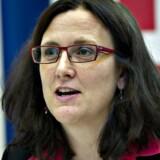 Den svenske justitskommissær Cecilia Malmström, som selv oprindelig stemte imod EUs logningskrav, forventer ikke, at EU gør videre, efter at EU-Domstolen erklærede hele grundlaget for den omfattende også danske logning ugyldigt. Arkivfoto: Jens Nørgaard Larsen, Scanpix