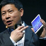 Huawei er verdens tredjestørste producent af smartphonetelefoner, og på verdens største mobilmesse, Mobile World Congress, i Barcelona i februar fremviste topchef Richard Yu endnu en stribe nyheder. Nu viser det sig, at NSA har infiltreret servere i Huaweis hovedkvarter i Kina og overvåget kommunikationen mellem topcheferne. Arkivtoto: Gustau Nacarino, Reuters/Scanpix