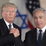 USAs præsident Donald Trump sammen med den israelske premierminister Benjamin Netanyahu.