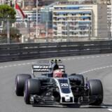 Kevin Magnussen ses her på bybanen i Monaco. I 2020 kan danskeren måske køre Formel 1 på en bybane i København.