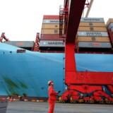 Arkivfoto. A.P. Møller-Mærsks containerrederi, Maersk Line, har haft gode erfaringer med sit testprogram med kinesiske Alibaba, der lader kunder reservere containerplads online mod et depositum.