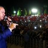 Udmeldelserne fra Slagelse Privatskole sker, efter at skolen er blevet sat i forbindelse med den tyrkiske Gülen-bevægelse, som af Tyrkiets præsident Recep Tayyip Erdogan (billedet) beskyldes for at stå bag det fejlslagne kupforsøg i Tyrkiet i juli.