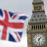 Arkivfoto. Vel blev skønnet for væksten i den britiske økonomi nedjusteret til 1,4 pct. fra 2,1 pct. i den efterårsredegørelse, som finansministeren, Philip Hammond, onsdag eftermiddag præsenterede for parlamentet.