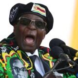 Militæret har afsat Zimbabwes præsident i tre årtier, Robert Mugabe / AFP PHOTO / ZINYANGE AUNTONY