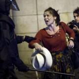 Det nationale spanske politikorps har været talstærkt til stede i Catalonien for at forhinde en afstemning om uafhængiged.