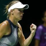 Arkivfoto. Caroline Wozniacki rykker forbi Garbiñe Muguruza på ranglisten, efter at spanieren fik skidt start på 2018.